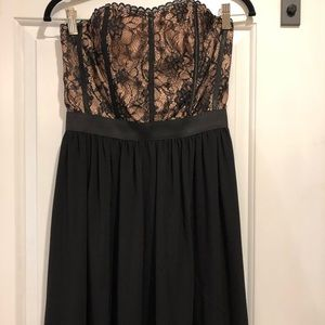 Beautiful lace detail strapless dress